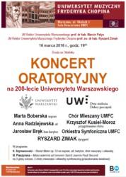Koncert oratoryjny na 200-lecie UW