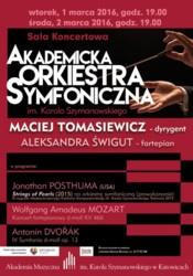 Koncerty Akademickiej Orkiestry Symfonicznej w Katowicach