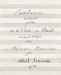 Fantaisie brillante pour piano sur la Perle du Brésil