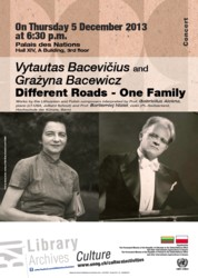 Vytautas Bacevičius and Grażyna Bacewicz. Different Roads - One Family