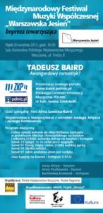 Prezentacja portalu o Tadeuszu Bairdzie