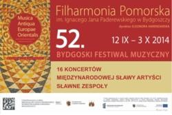 "52. Bydgoski Festiwal Muzyczny ""Musica Antiqua Europae Orientalis"" 2014"