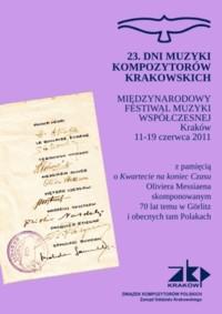 23. Dni Muzyki Kompozytorów Krakowskich 2011