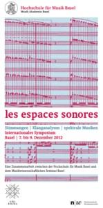 Konferencja Les Espaces Sonores