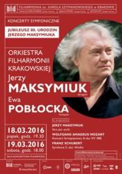 Koncerty jubileuszowe Jerzego Maksymiuka