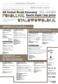 """Festiwal """"Kwartet Śląski i jego goście"""""""