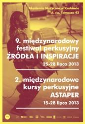 """9. Festiwal Perkusyjny """"Źródła i Inspiracje"""" 2013"""