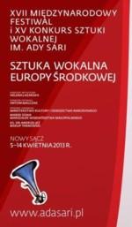 Festiwal i Konkurs Sztuki Wokalnej im. Ady Sari 2013