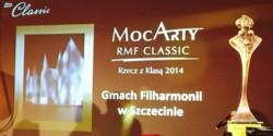 Filharmonia w Szczecinie jako Rzecz z Klasą w plebiscycie MozArty 2014 RMF Classic