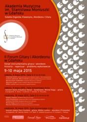 II Forum Gitary i Akordeonu Skład instrumentalny gitara i akordeon – Gdańsk, 9-10 maja 2015