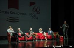 Forum Opery Polskiej - od lewej: Daniel Cichy, Laco Adamik, Tomasz Tokarczyk, Małgorzata Walewska, Jacek Jekiel, Bogusław Nowak