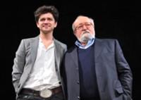 Grzegorz Jarzyna i Krzysztof Penderecki podczas konferencji prasowej - 31 stycznia 2012