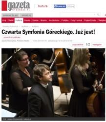 Czwarta Symfonia Góreckiego. Już jest! (Gazeta.pl)
