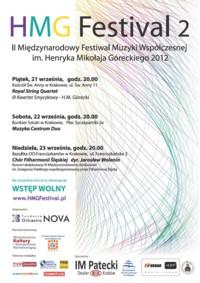 HMG Festival 2 - II Międzynarodowy Festiwal Muzyki Współczesnej im. H.M.Góreckiego