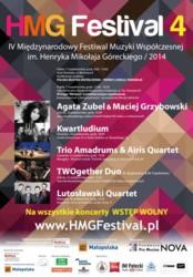 Międzynarodowy Festiwal Muzyki Współczesnej im. Henryka Mikołaja Góreckiego 2014
