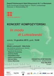 """Konkurs Kompozytorski """"In modo di Lutosławski"""""""