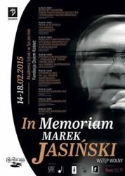 In MemoriamMarek Jasiński