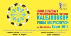 XV Międzynarodowy Festiwal Kalejdoskop Form Muzycznych im. Marii Fołtyn 2014