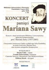 Koncert pamięci Mariana Sawy