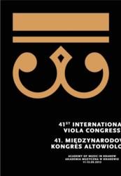 41st International Viola Congress – Kraków, 11-15 września 2013