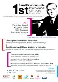 Wyniki I Międzynarodowego Konkursu Kompozytorskiego im. Karola Szymanowskiego 2012