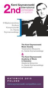 II Międzynarodowy Konkurs Kompozytorski im. Karola Szymanowskiego 2015