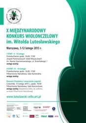 X Międzynarodowy Konkurs Wiolonczelowy im. Witolda Lutosławskiego 2015