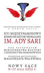 XVIII Międzynarodowy Festiwal i XVI Konkurs Sztuki Wokalnej im. Ady Sari