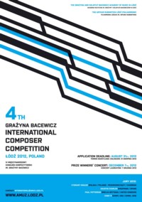 Konkurs Kompozytorski im. Grażyny Bacewicz 2012