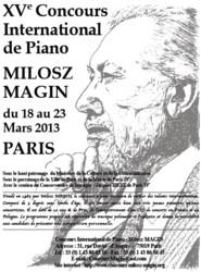 15. Międzynarodowy Konkurs Pianistyczny im. Miłosza Magina - Paryż 2013