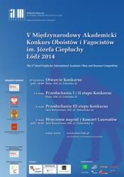 Konkurs Oboistów i Fagocistów w Łodzi