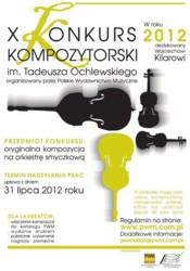 X Konkurs Kompozytorski im. Tadeusza Ochlewskiego 2012