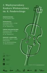 II Międzynarodowy Konkurs Wiolonczelowy im. Krzysztofa Pendereckiego 2013