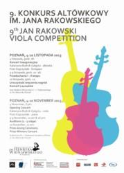 9. Konkurs Altówkowy im. Jana Rakowskiego 2013