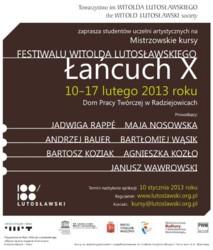 Kursy Mistrzowskie w ramach festiwalu Łańcuch X