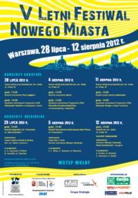 V Letni Festiwal Nowego Miasta – Warszawa 2012