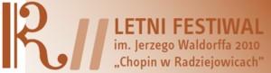 """II Letni Festiwal im. Jerzego Waldorffa w Radziejowicach """"Chopin w Radziejowicach"""" 2010"""