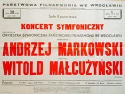 plakat koncertów 28 lutego i 1 marca 1969