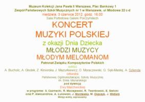 Koncert muzyki polskiej z okazji Dnia Dziecka