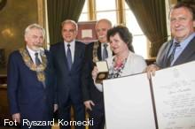 na zdj. od lewej: Jacek Majchrowski, Bogusław Nowak, Bogusław Kośmider, Barbara Bajer i Andrzej Biegun