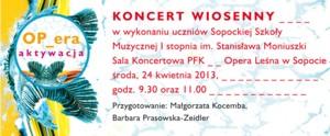 OP_era aktywacja - Koncert Wiosenny