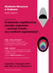 Krakowska współczesna muzyka organowa – wartość trwała czy rozdział zapomniany?