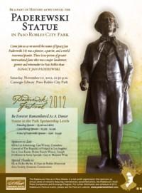 pomnik I.J. Paderewskiego w Paso Robles
