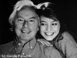 Andrzej Panufnik z córką, Roxanną