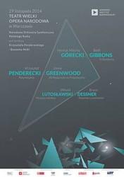 Penderecki - Greenwood, Lutosławski - Dessner, Górecki - Gibbons