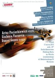 Sinfonia Varsovia, Artur Paciorkiewicz i Daniel Gazon