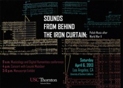 Sounds from Behind the Iron Curtain: Polish Music after World War II