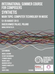 Międzynarodowy Kurs dla Kompozytorów SYNTHETIS – Radziejowice, 13-28 sierpnia 2013