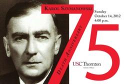 2012 Paderewski Lecture-Recital - Celebrating Szymanowski