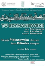 Tu Szymanowski!